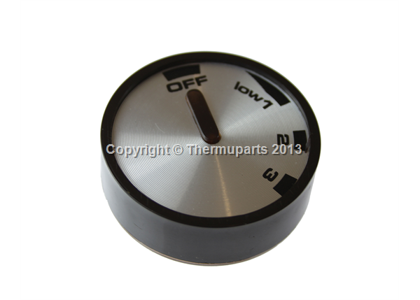 Hob Control Knob in black and silver for a Cannon Hob