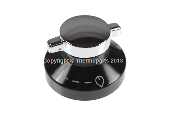 Control Knob for New World Hotplates (Black & Chrome)
