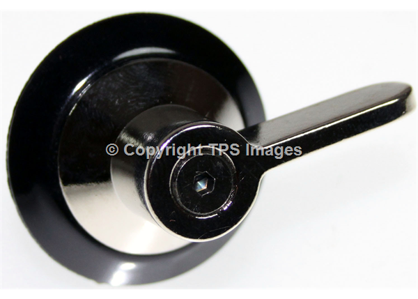 Hob Knob in Chrome and Black for Smeg Cookers
