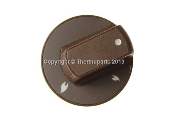 Flavel Genuine Brown Hotplate Control Knob