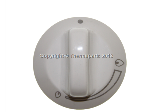 Grill Knob in white for Parkinson Cowan Cookers