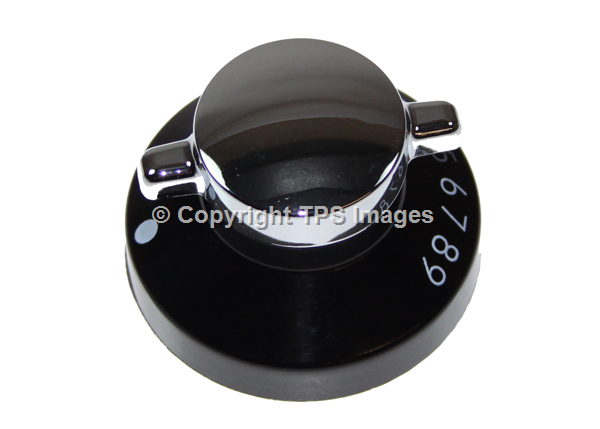 Black and Silver Oven Knob
