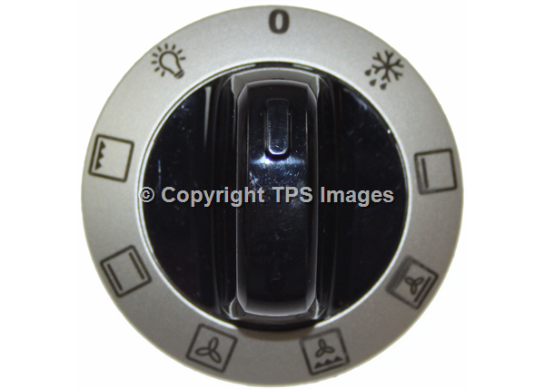 Black and Silver Selector Knob