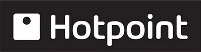 Black and white Hotpoint logo