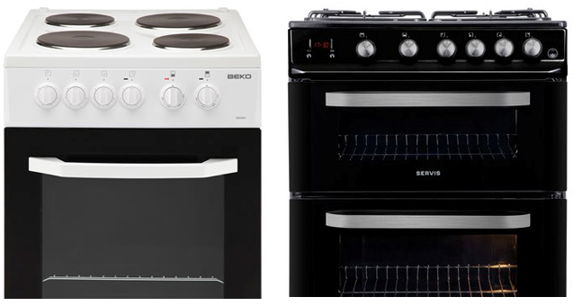 gas and electric ovens